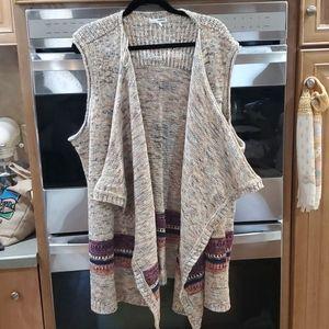 Drape Front Sweater Vest size 3X